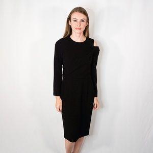 BYRON LARS Beauty Mark Black Midi Dress